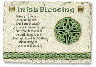Irish Blessing Wall Plaque Irish Celtic Prayer