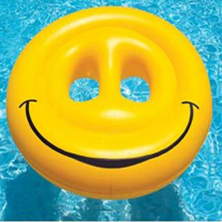 Face Island Swimming Pool Inflatable Float Raft Pond Lake