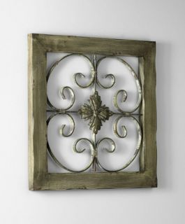 Shabby Vintage Chic Rustic Wood Iron Wall Decor