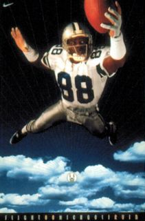 RARE Michael Irvin Flight 88 Dallas Cowboys 1994 Nike Football Poster