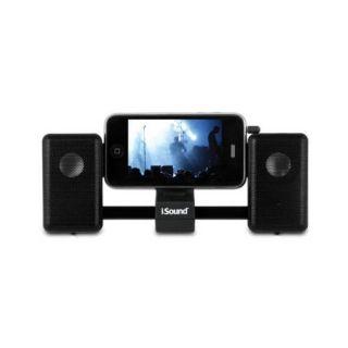 Black ISOUND IMAN Universal Portable Sliding Speaker System for Apple