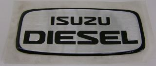 Isuzu Diesel Duramax Emblem Decal Sticker Turbo