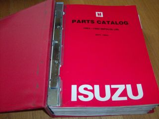 Parts Catalog Service Manual Isuzu Impulse JR 1983 1989 Binder Great