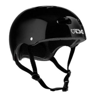 TSG Skateboard BMX Helmet Gloss Black L XL