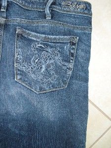 Silver Isabel Womens Distressed Flair Jeans Size 30