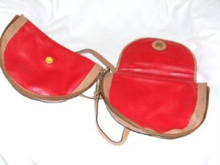 Very Unique Isanti Navy Red Leather Reversable Cros Body Bag Italy