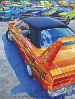 IRVINE CAR ART PLYMOUTH GTX SUPERBIRD 69 70 71 440 AIR GRABBER ROAD
