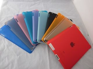 Fr Apple iPad2 iPad3 9Color Frosted Rubberized Plastic Hard Case Shell
