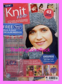 Knit Now Magazine Issue 1 Free Gifts 4 5mm Circular Needles Beginners