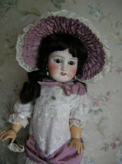 ANTIQUE FRENCH DOLL 23 EXCELLENT COND..MARKS LIMOGES FRANCH J.B 10