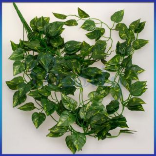 Artificial Hanging Ivy Vine Plant Silk Leaf Garland Home Garden