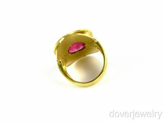 Italian 11 00 Carat Pink Tourmaline 14k Gold Wide Ring