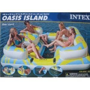 New Intex Oasis Inflatable Island Float Lounge Raft Lakes or Pools New
