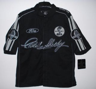Ford Mustang Shelby Cobra Racing Embroidered Pit Crew Shirt XXL