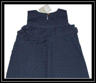 Neige Navy Blue Swiss Dot Isobel Dress Upscale High End Boutique $$$