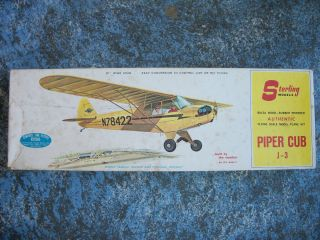 Sterling Models Piper Cub J 3 Plane Kit 1960S