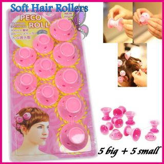 Soft Hair Care Peco Roll 10 Hair Rollers Curler DIY