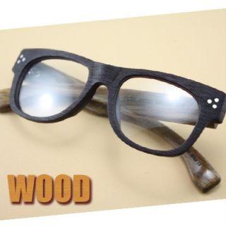 SAGAWA Fujii Real Wood Temple Eyeglass Glass Plastic 8250 7113D Woody