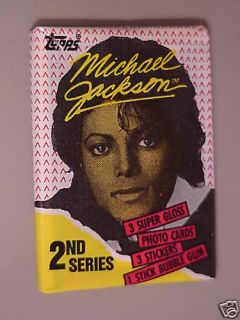 Michael Jackson Trading Cards 2nd Series RARE Unopened Wax Packs