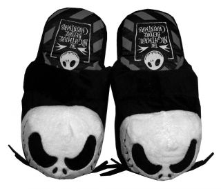 Nightmare Before Christmas Jack Skellington Face Movie Womens Slippers