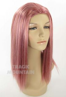 Dark Pink Cotton Candy Wig Katy Perry Punk Rock Costume Anime Adult
