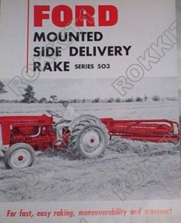 Ford Tractor Series 503 Side Delivery Rake Brochure