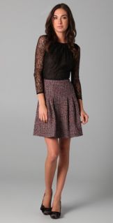 RED Valentino Lace & Tweed Combo Dress