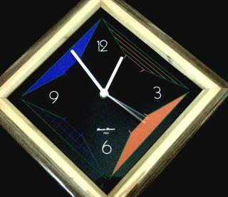 Modern Wall Clock Italian by Diamantini Domeniconi w Kienzle German