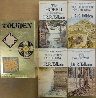 Tolkien Gold Box Set 1973 RARE Books Lot Hobbit Lord of the