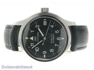 IWC Mark XII Mens Automatic Pilot Watch Steel Shipped from London UK