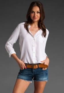 New Equipment Brett Washed Silk Blouse Shirt Bright White XS s M $198