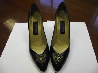 VINTAGE PALIZZIO BY M.G. ABRAMS LADIES BLACK CLASSIC LEATHER SZ 8AA