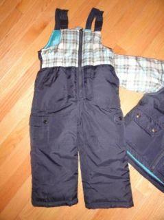 Carters Baby Toddler Boys 2 PC Snowsuit Bibs Pants Hooded Jacket 3 3T