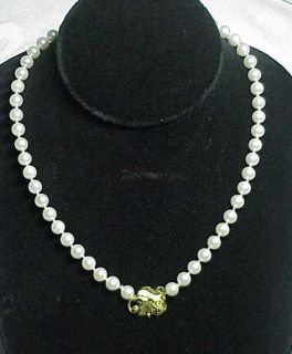 Georg Jensen 18K Yellow Gold Genuine Pearl Necklace Pre Owned Estate