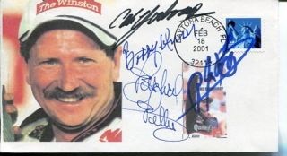 Richard Petty Cale Yarborough Bobby Unser A. J. Foyt NASCAR Signed