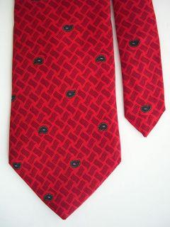 2973 Paul Lawrence Silk Necktie Mens Tie Paisleys Red