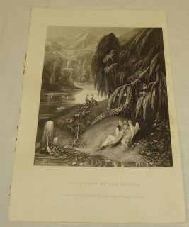 July 1850 Godey's Ladies Book Antique Print Loves of The Angels