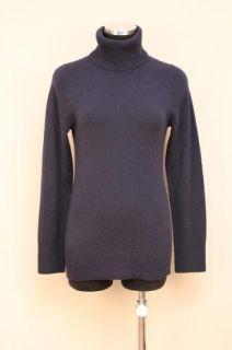 JCrew Collection Cashmere Turtleneck Sweater New $178 Navy Blue XL