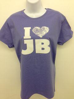 Love Justin Bieber Fever Concert Ladies Tee Shirt Heart J B