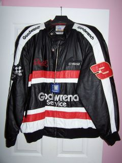 Excelled Dale Earnhardt Goodwrench NASCAR Leather Jacket