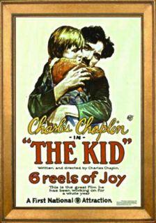 Vintage Movie Poster The Kid 1921 Charlie Chaplin Jackie Coogan