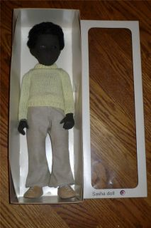 Vintage Sasha Caleb Black Boy 16 Doll #309 Original in Box Made In