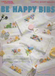 Be Happy Bibs by Terrie Lee Steinmeyer Cross Stitch Pattern