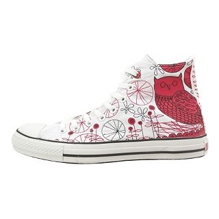 Converse (PRODUCT) Red Chuck Taylor All Star Hi Stitched Red Owl