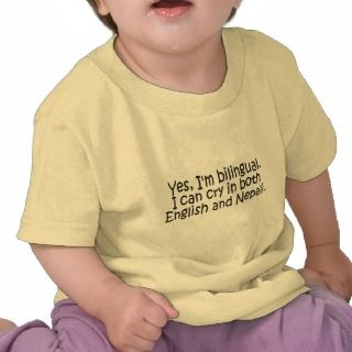 Bilingual Nepali Tee Shirts