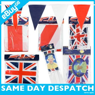 Union Jack Bunting Flags Queens Diamond Jubilee Games British Party