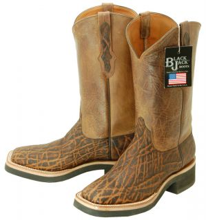 527 Black Jack Chestnut Elephant Cowboy Boots Mens 10 C $600