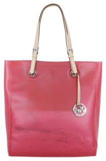 Michael Kors Jet Set North South Tote Bag Frosted Neon Pink Jelly New
