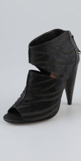 Blonde Ambition Reve Open Toe High Heel Cutout Booties