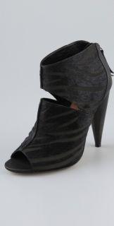 Blonde Ambition Reve Open Toe High Heel Cutout Booties